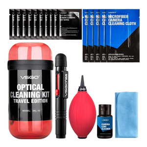 Image 2 - New VSGO 6 In 1 Optical Cleaning Kit Travel Edition With Camera Lens Pen Air Blower Cleaning Cloth Waterproof Bottle.