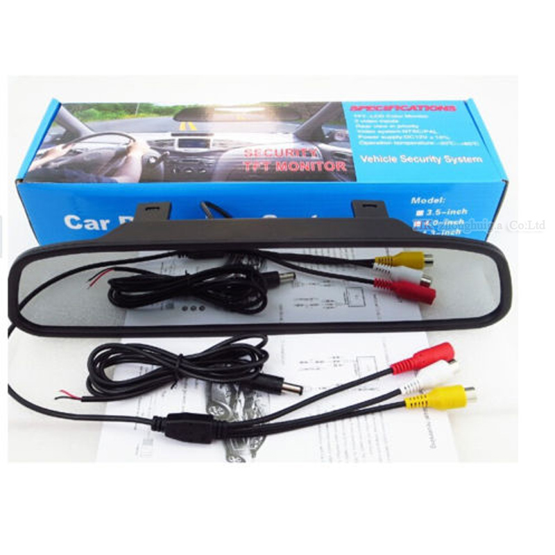4.3 inch Car Rearview Mirror Monitor Auto Parking Video+Night Vision Backup 2.4g Wireless Camera CCD Car Rear View Camera    3
