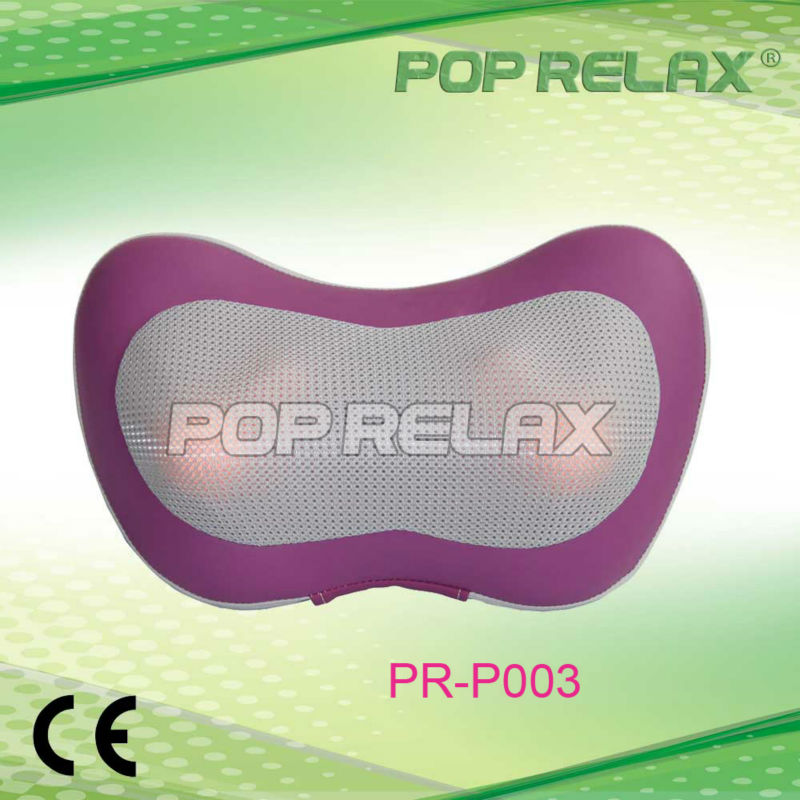 Home&Car massage pillow with light from POP RELAX rose PR-P003 hot selling free shipping bone shape massage pillow relax car massage pillow