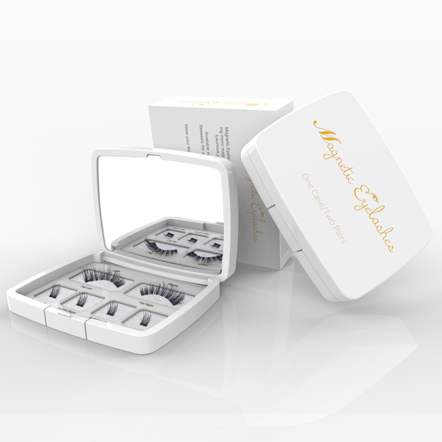 Genailish 3D Magnetic Eyeashes false eyelashes 1 pair 3d eye lashes extension lashes natural custom packaging Box Acrylic SCT05 4