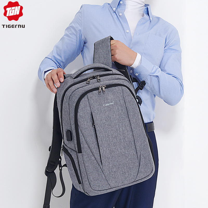 2019 Tigernu USB Charging 15 6 Laptop Anti theft Backpack Men Anti theft School Backpack Bag