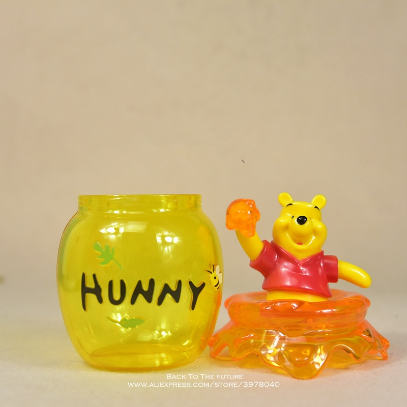 Image 4 - Disney Winnie the Pooh storage jar 16cm Action Figure Anime Decoration Collection Figurine mini doll Toy model for children giftAction & Toy Figures   -