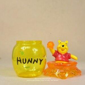 Image 4 - Figura de acción de the Pooh Winnie de Disney, tarro de almacenamiento de 16cm, colección de decoración de Anime, mini muñeca, modelo de juguete para niños, regalo
