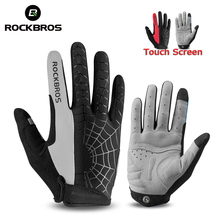 ROCKBROS Motorcycle  Gloves Windproof Full Finger Touch Screen Sport Road MTB Mountain Bicycle Cycling Clothing