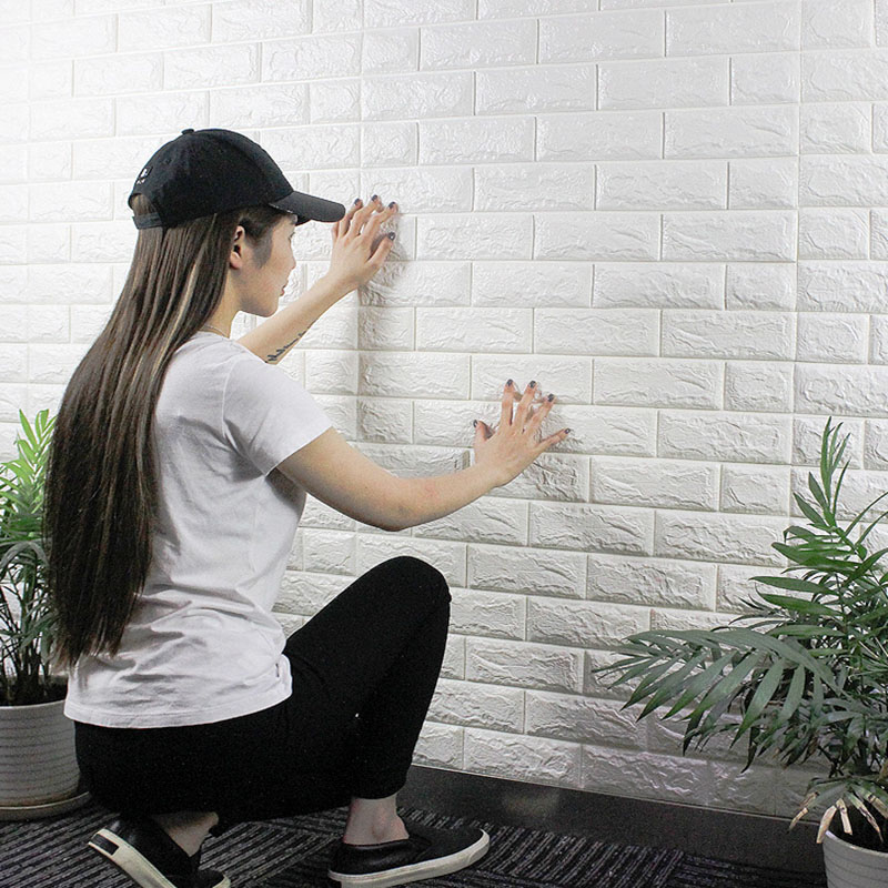 Waterproof PE Foam 3D Wall Stickers DIY Wallpaper Wall Decor Brick Living Room Children Kid Bedroom Decorative Safty Home Decor