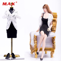 1/6 Scale Female Slim Tight Skirt Openwork Sweater Clothes Set Sweater & Skirt & Shoes For 12 Body VS039A