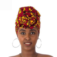Batik Printed Headwrap Bow Printing Headwear Head Covers Women Traditional African Headscarf Ladies Bandage Hair Accessories(China)