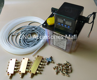 Full set 1.5L 220V AC Electric Auto Lubrication Pump CNC Engraving Router machine Automatic Oil Pump