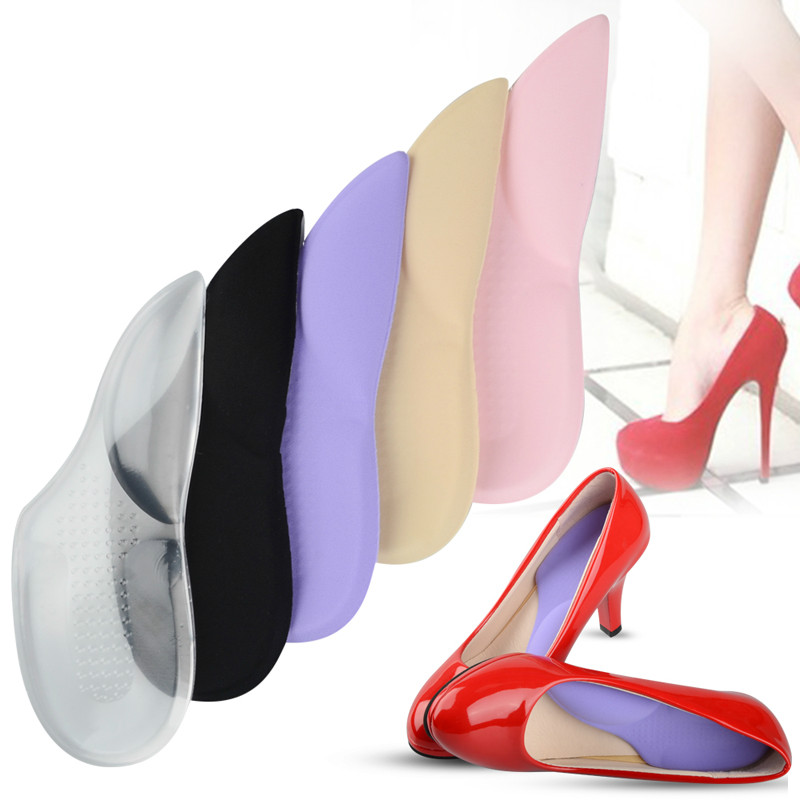 3/4 Orthopedic Arch Supports Shoe Insoles Heels Pads for High Heel Shoe Liners Gel Inserts Pain Relief palmilha Insole silicone insole prevent blisters pads gel cushions heel inserts shoe liners semelle chaussure palmilhas inlegzolen shoes insoles