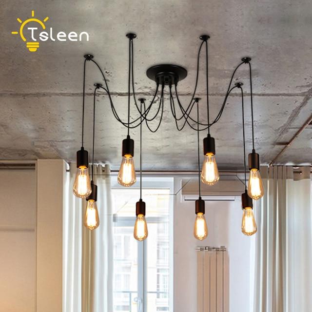 E27 Led Retro Edison Bulb Pendant Lights Diy Ceiling Hanging Vintage Loft