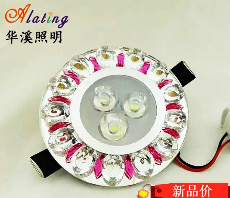 Высокая-Q 4 встроенных Вт светодиодный потолочный светильник кристалл светодиодные светильники встраиваемые светодиодные лампы с привело ...