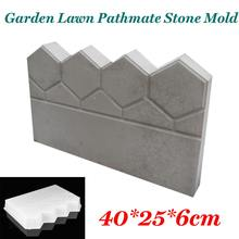 Garden Fence Concrete Stone Road Flower Bed DIY Decor Pave Making Plastic Reusable Antique