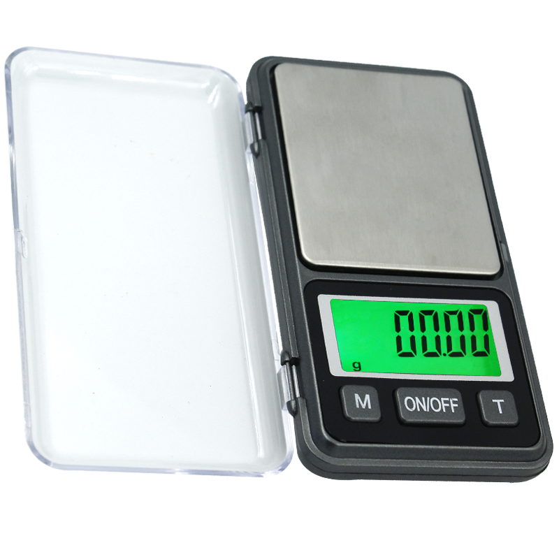 10pcs/lot 200g / 0.01g Portable Pocket Electronic Digital Scale large screen with green backlight LCD Display Recision Balance