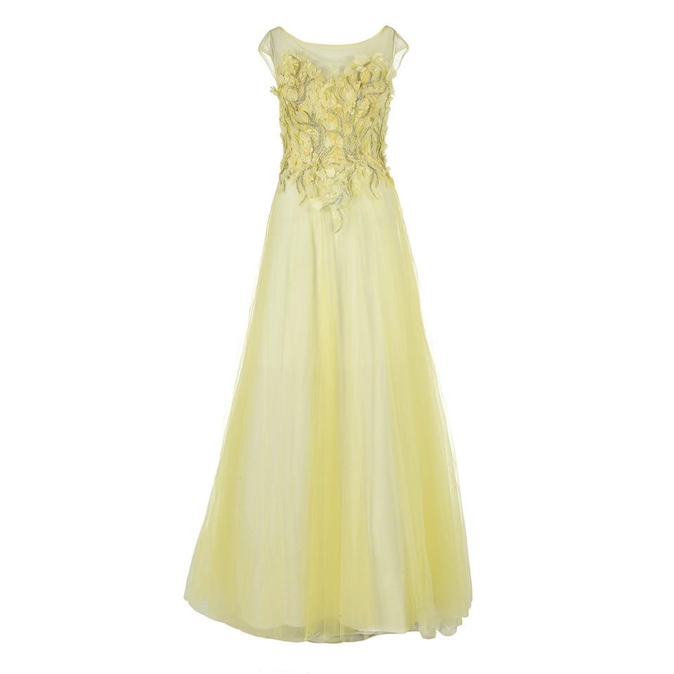 Dressv Ice Blue Appliques Scoop Neck Long Evening Dress Sleeveless Wedding Party Formal Dress A Line Evening Dresses