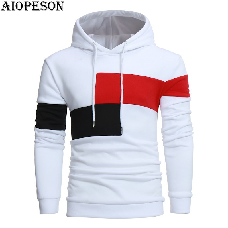 AIOPESON Fashion Autumn Winter Male Hoodies Patchwork Casual Long Sleeve Sweat Shirts Hooded Hoodies Men Europe Size M-3XL
