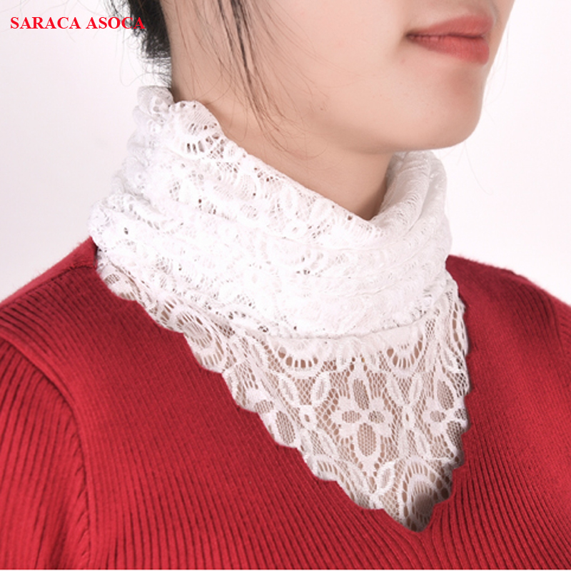 Autumn Winter Fashion Lace Detachable Collars Women All Match Sweater Fake Collar For Girls A227