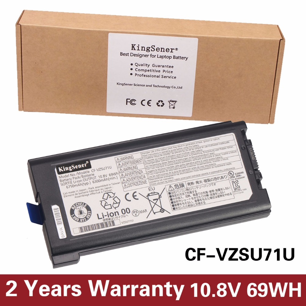 KingSener Japanese Cell CF-VZSU71U Battery For Panasonic Toughbook CF-30 CF-31 CF-53 CF-VZSU46U CF-VZSU72U 10.8V 69WH 6750mAh ag552 2k cf