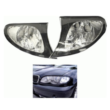 1 пара новых Пластик углу сигналы поворотников ясно бортовые огни сторона свет лампы для 02-05 BMW E46 3 серии 4DR