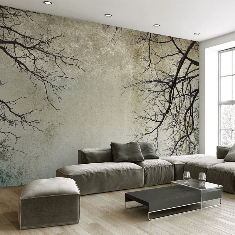 Custom Any Size Mural Wallpaper Modern Simple Branch Sky Photo Wall Paper For Walls 3D Living Room Home Decor Papel De Parede 3D