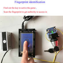 Finger Print Scanner prop Escape room game Fingerprint identification puzzle identify the fingerprint to release lock