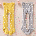 Fashion Winter 2016 Baby Kids Girl Tights Stars Printed Stockings Cotton Knitted Warm Pantyhose Children Tights Leg Warmers