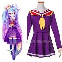 New Arrival No Game No Life Cosplay Costume Nogemu Noraifu Shiro Kawaii Sailor Uniform School Uniform