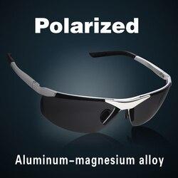 2017 New Fashion Aluminum Magnesium Alloy Polarized Sunglasses For Men Male Car Driving Sun Glasses Multicolor Coating Lenses