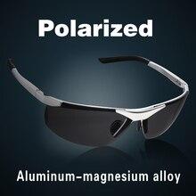 Gafas de sol polarizadas de aleación de magnesio y aluminio para hombre, lentes de sol de conducción con revestimiento Multicolor, a la moda, 2019