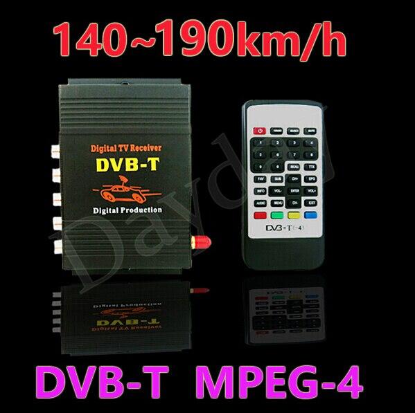 Стандарт DVB-T Автомобильная 140-190км/ч телевидение DVB-Т В коробке(карты памяти SD) MPEG2 и MPEG4 или AVC/H. 264 в стандарте DVB T цифровой мобильный цифровое телевидение Тернер приемник для Европы