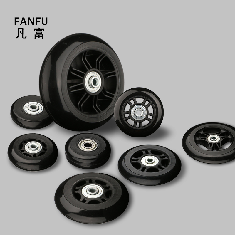 Suitcase Wheels 2 Sets Of Luggage Suitcase Replacement Wheel Factory Direct Sale Axles Deluxe Repair Deluxe Repair Tool  Casters(China)