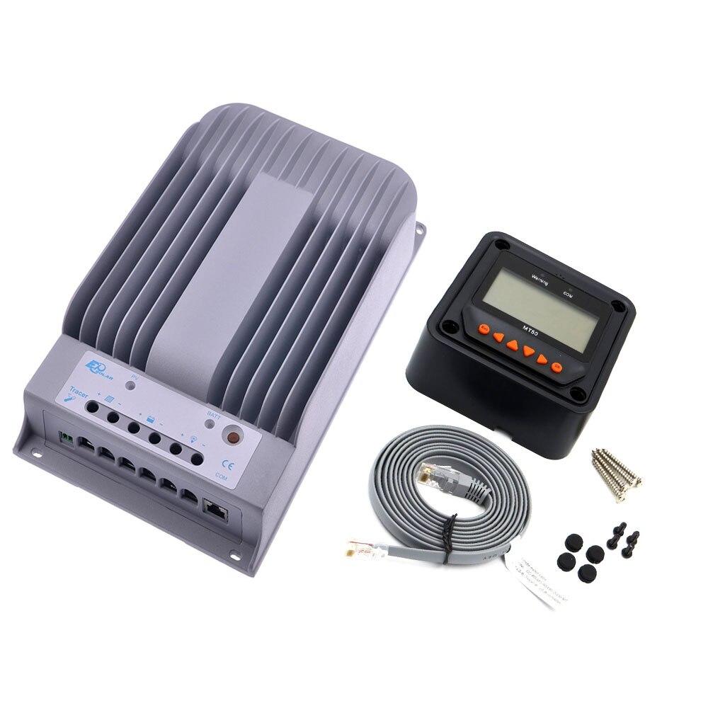 1 pc x 30A 12 V 24 V nouveau traceur 3215BN 30 ampères Programmable MPPT contrôleur de Kit de système solaire avec MT50