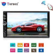 Topbox 2 Дин Радио Bluetooth 2din автомобильный мультимедийный MP5 плеер 7 «HD Touch Авторадио, USB аудио стерео Поддержка заднего вида камера