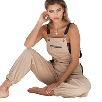 Summer Autumn Rompers Womens Jumpsuits Vintage Sleeveless 2018 Fashion Backless Casual Loose Solid Overalls Strap Paysuits