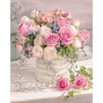 Broderie Diamant Bouquet d'Amour