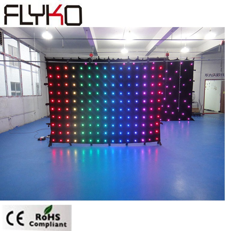 P20 2m*3m High Quality Led Party Equipment For Sale Dj Booth Table Dj Led Video Curtain