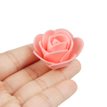 100pcs/set 4cm Mini Foam Rose Artificial Flower Multicolor Wedding Decoration Fake Craft Dropshipping A
