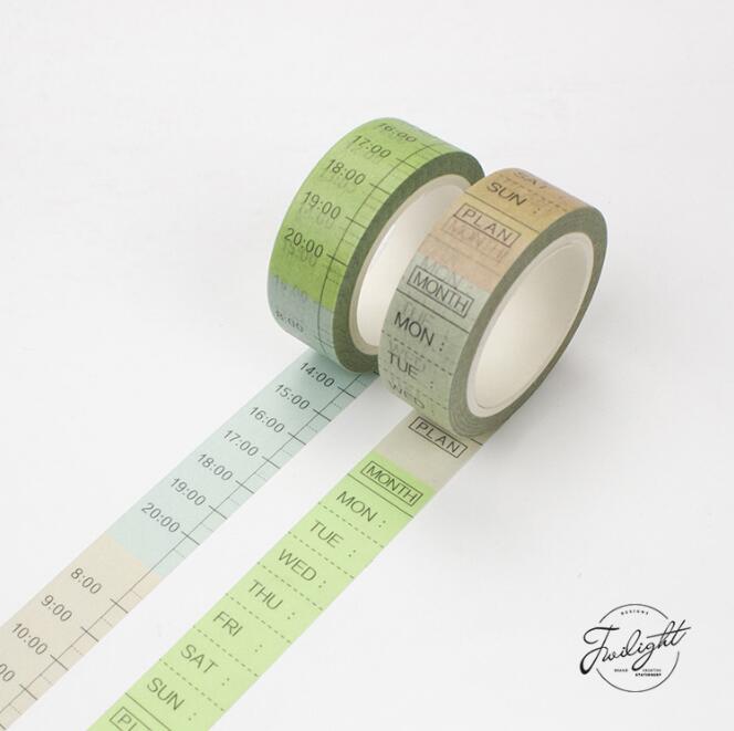 TheTwilight Saga Date Time Plan Washi Tape Adhesive Tape DIY Scrapbooking Sticker Label Masking Tape light color daily plan washi tape adhesive tape diy scrapbooking sticker label masking craft tape