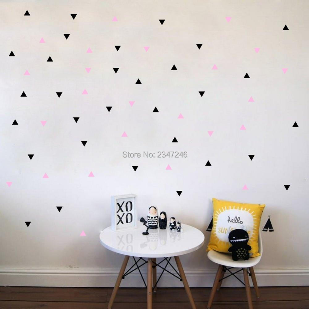 buy wall decors diy colorful triangles round circles stars art mural decals. Black Bedroom Furniture Sets. Home Design Ideas