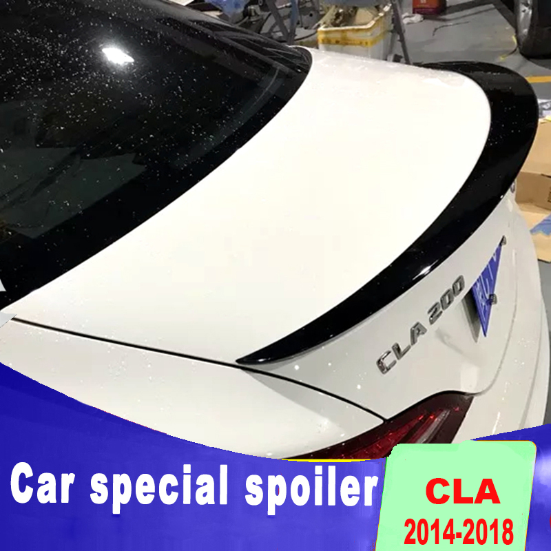high quality streamline spoilers for benz <font><b>CLA</b></font> <font><b>W117</b></font> CLA200 CLA220 CAL260 rear trunk wing spoiler by 2013 to 2018 + up image