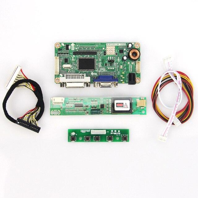 Para LTN154U2-L06 LQ154M1LW02 VGA + DVI M. RT2261 M. RT2281 LCD/LED LVDS Placa Driver Do Controlador Do Monitor reutilizar Laptop 1920x1200