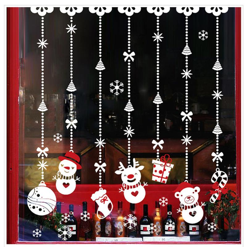 20 Patterns New Year Window Glass PVC Wall Sticker Christmas DIY Wall Stickers Home Decal Christmas Decoration for Home Supplies