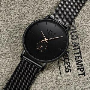 Image 5 - LIGE レディーストップブランドの高級カジュアルファッションウォッチの女性のクォーツ防水時計メッシュベルト女性腕時計レディース腕時計