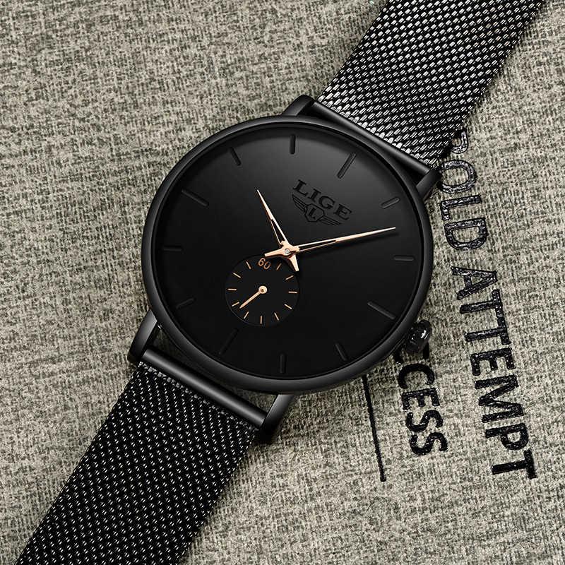 Relojes LIGE para mujer marca superior reloj de moda Casual de lujo reloj de cuarzo resistente al agua correa de malla reloj de pulsera de mujer reloj de mujer