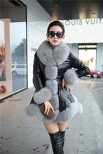 2018 Thick Winter Coat Women's Leather Jacket Female PU Leather Jackets 6XL AL97