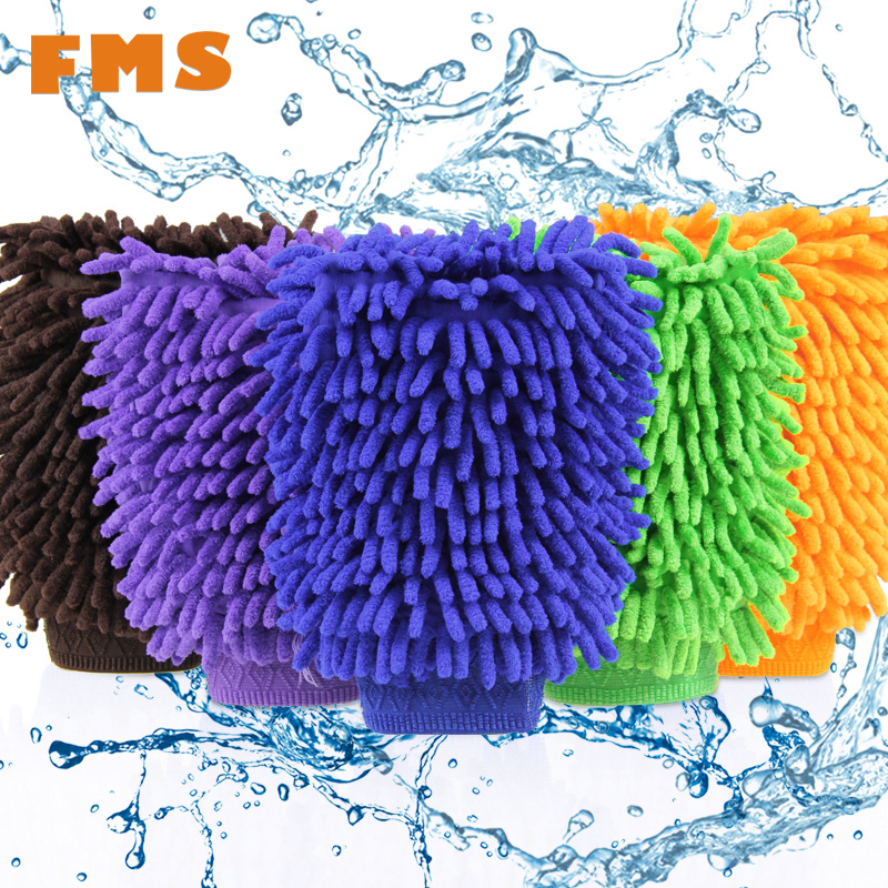 Top Fashion Car Wash Glove Ultrafine Fiber Chenille Soft Towel Microfiber Cars Cleaning Care Detailing For Automotives Household