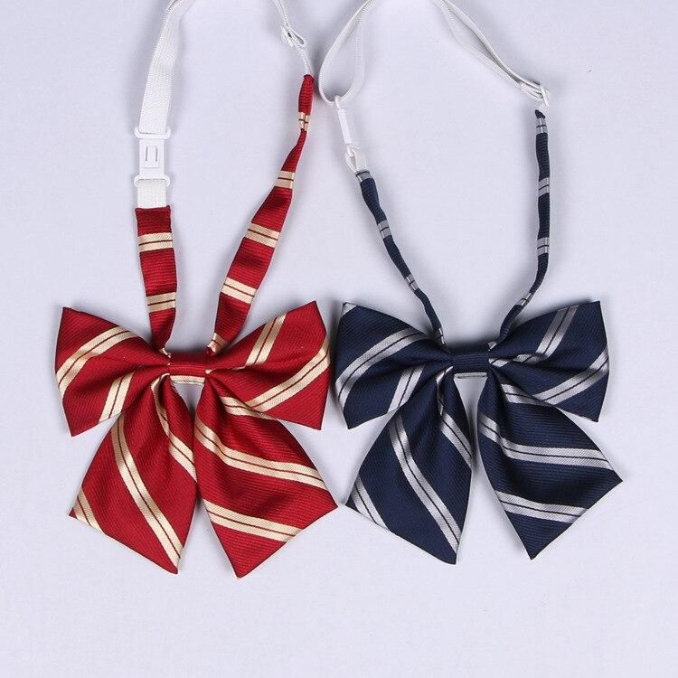 Jk Bow Tie Striped Solid Uniform Collar Butterfly Cravat Japanese High School Students School Uniform Sailor Suit Accessories