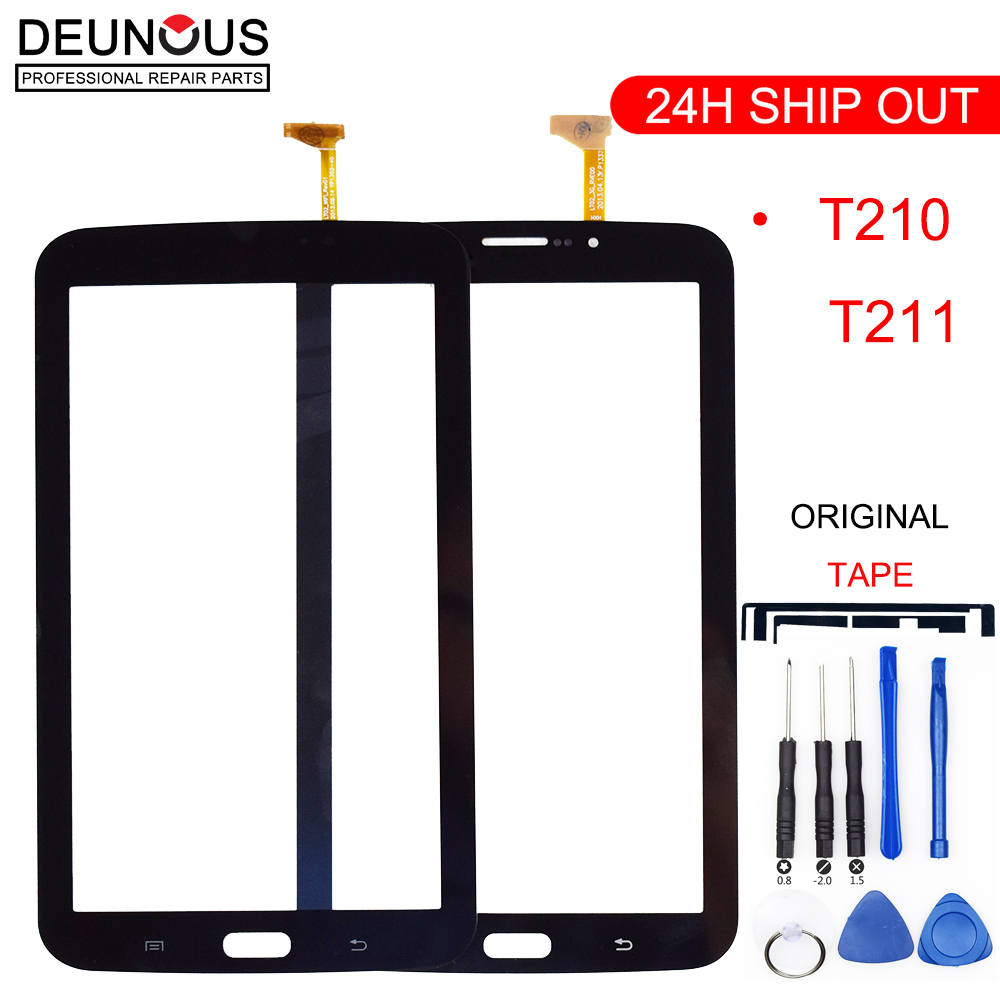 New 7 Inch For Samsung Galaxy Tab 3 SM-T210 SM-T211 SM T210 T211 Touch Screen Digitizer Glass Panel Sensor Tablet Replacement