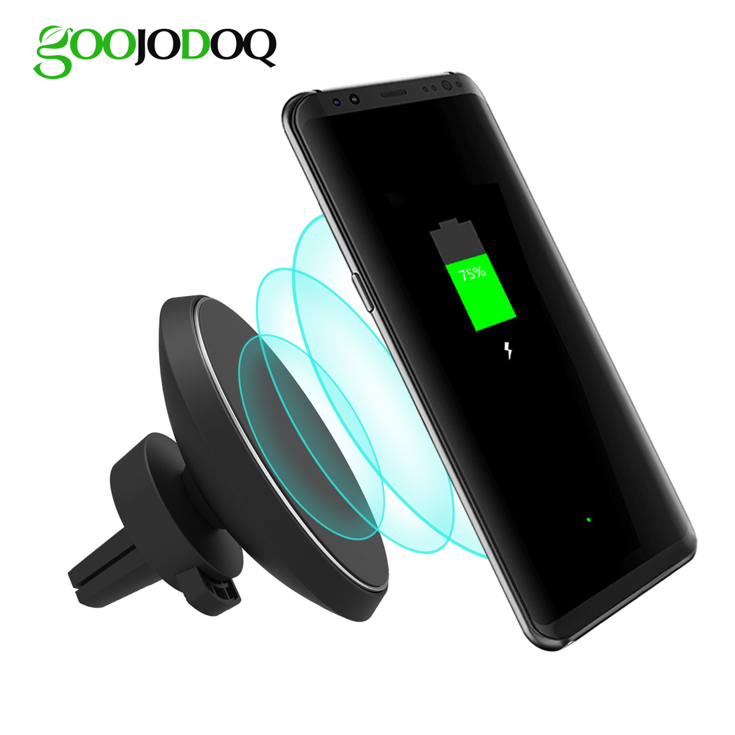 qi car wireless charger for iphone 7 plus 6 6s plus 6 6s. Black Bedroom Furniture Sets. Home Design Ideas