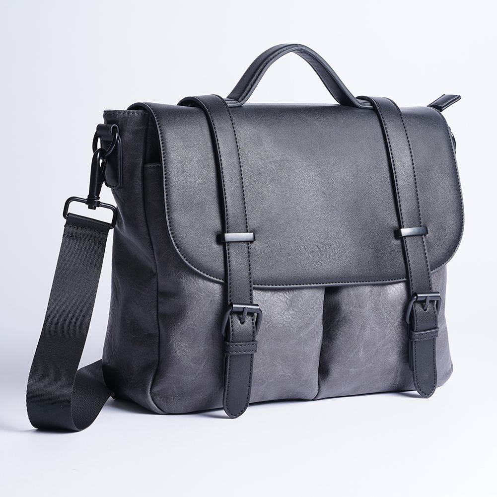 Men's Women's Grab PU Briefcase Business Casual