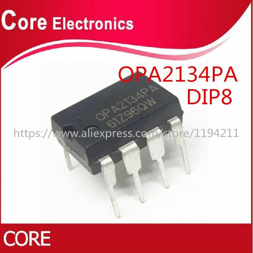 100PCS OPA2134PA DIP8 OPA2134P DIP OPA2134 DIP 8 2134PA High Performance AUDIO OPERATIONAL AMPLIFIERS